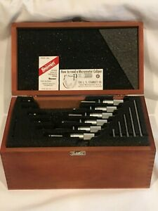 Starrett 436 Metric Outside Micrometer Set 0 150mm With Box No Engravings