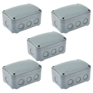 5pk Waterproof Junction Box Cable Switch Connector Enclosure Case Ip66 9 pole