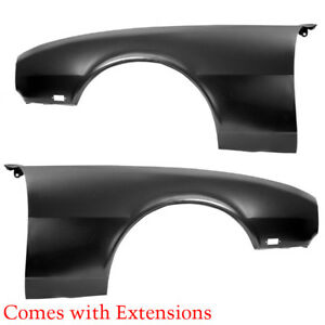 1968 Camaro Standard Std Front Fenders With Extensions 1039l 1039m Dynacorn