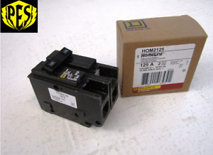 Square D Hom2125 New In Box 2 Pole 125 Amp Plug On Breaker Hom Style