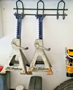 Jack Stand Holder Trailer Shop Garage Storage Rack Shelf Racing Mobile Race Car