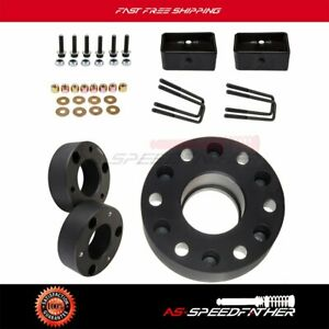 6x 2 Wheel Spacers 3 Front 2 Rear Leveling Lift Kit For Chevrolet Gmc 06 17
