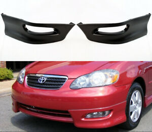 S Style Lower Bumper Spoiler Body Kit Lip For Toyota Corolla 2005 2008