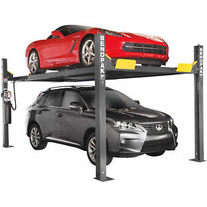 Bendpak 4 post Extra tall Car Lift 9000 lb Capacity Gray Model Hd 9xw