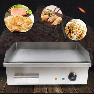 Electric Griddle Flat Top 548 350mm Commercial Restaurant Grill Bbq Thermostat