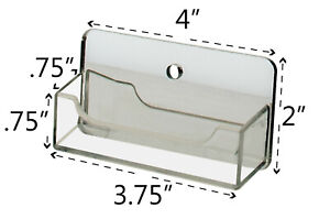 Business Card Holder Wall Mount Clear With Mirrored Backing Qty 24