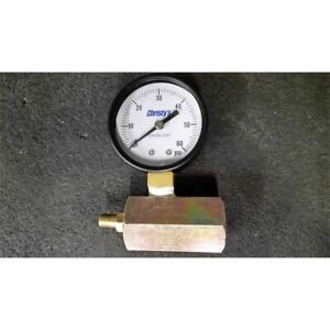 Christy s Tg a 60 20 Air Test Pressure Gauge 0 60psi 2in Dial 3 4in Npt