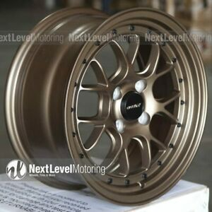 Circuit Cp27 15x7 4 100 35 Matte Flat Bronze Wheels Fits Honda Civic Eg Ek Si