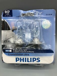 Philips Genuine H7 12972cvb2 Crystalvision Ultra Upgrade Headlight Bulb 2 Pack