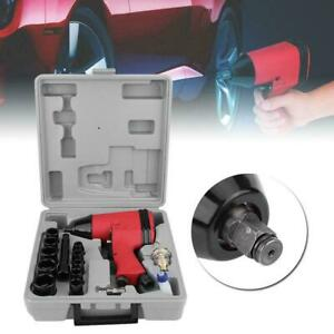 17pcs 1 2 Twin Hammer Air Impact Wrench Gun Set W Sockets Us Adapter Case