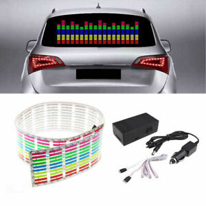 45 11cm Car Sticker Music Rhythm Led Flash Light Sound Activated Equalizer K