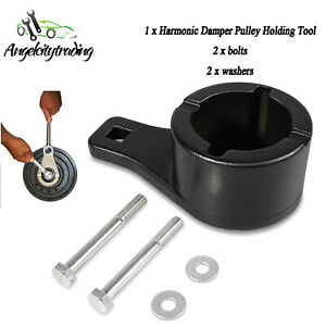 Fit Lexus Toyota Crankshaft Harmonic Damper Pulley Holding Crank Shaft Tool Set