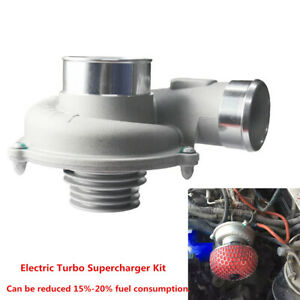Universal Electric Turbo Supercharger Kit Air Filter Intake Engine Protection