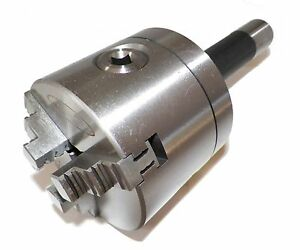 Z Live Center 4 3 Jaw Precision Lathe Chuck With R8 Shank non rotating