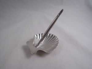 Tiffany Sterling Silver Pen On Shell Stand Set Classy Desk Piece