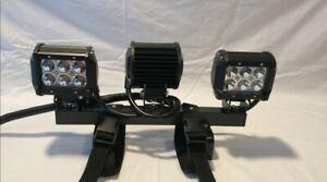 Auxiliary Tractor Work Lights Quick Attach Mounts On 3 5 Rops