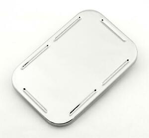 Mr Gasket 4573 Master Cylinder Cover Plastic Chrome Snap On 4 1 2 X 6 88 Each