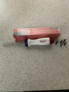New Oem Snap On Ratcheting Red White And Blue Screwdriver Rare Ssdmr4brwb Usa