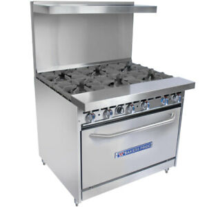 Bakers Pride 36 bp 6b s30 6 Burner Gas Range With 30 inch Oven