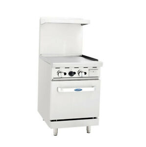 Atosa Cookrite Ato 24g 24 inch Heavy Duty Gas Range With Griddle Top And Single