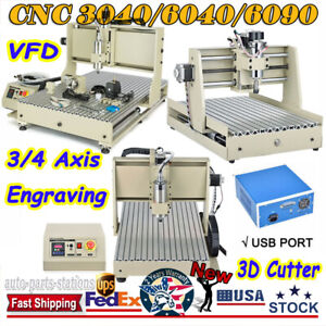 Cnc 3 4 Usb Axis 3040 6040 6090 Router Engraving Milling Machine 3d Cutter Usa