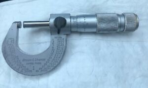 Brown Sharpe 0 1 Micrometer Swiss Made Carbide Faces