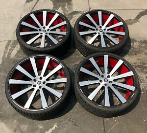 24 Spec 1 Spl 002 Luxury Gloss Black Brushed Wheels With Lizetti Tires