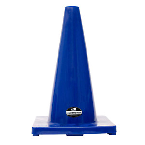 18 Rk Safety Traffic Pvc Cones Blue Base
