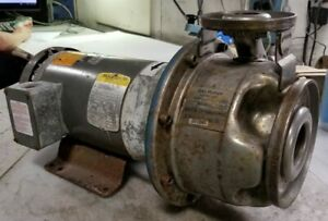 Goulds 3 Hp Stainless Centrifugal Pump 1 X 2 6 230 460 Vac 3450 Rpm 9shk2