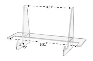 Business Card Post Card Holder 7 Easel 3 Piece Clear Horizontal Pocket 12