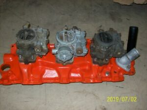 1959 Chevrolet 348 Tri Power Manifold With Carbs