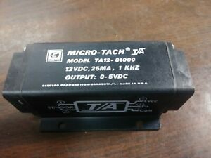 Electro Micro tach Frequency To Dc Converter 12 Vdc 0 5 Output Vdc New In Box