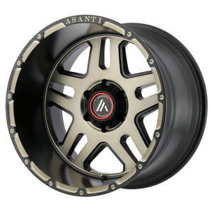 22 Asanti Off Road Enforcer Black ab809 22106818nbk Set Of 4 Wheels Rims