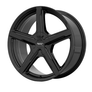 18 American Racing Trigger Black ar92188065338 Set Of 4 Wheels Rims