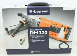 Husqvarna Dm 220 Hand Held Coring Drill 120vac W Case Brand New