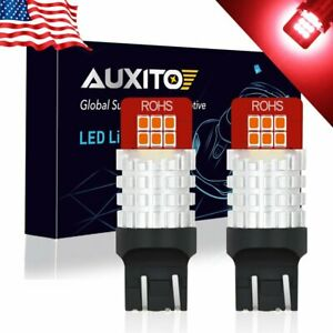 2x Auxito 7443 7440 7444 Super Red Led Brake Tail Light Bulbs 12smd Ck Wired A