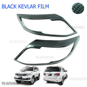 Front Head Lamp Light Carbon Cover Fit Toyota Fortuner Suv 4x2 2012 2015