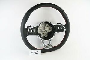 Volkswagen Vw Polo Golf Pasat Gti Red Stitching Leather Steering Wheel 12