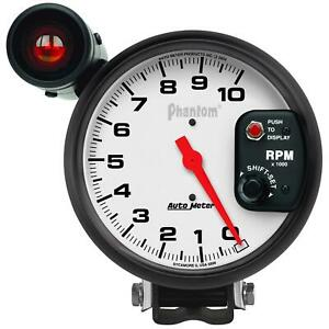 Autometer Phantom Monster Shift Lite Tachometer 0 10 000 5 Dia White Face 5899
