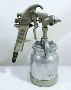 Vintage Binks Model 19 Paint Spray Gun Nozzle 66sd Tip Can W Lid Untested