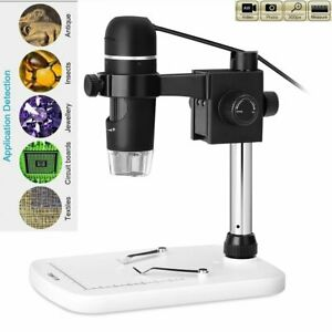 5mp 20x 300x Usb 8led Digital Microscope Magnifier Video Camera With Base Stand