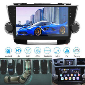 Hd Android Car Radio Player Gps Navigation Fit For Toyota Highlander 2010 2013