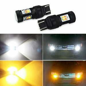 16k Auxito 7443 7444 Led Turn Signal Light Switchback Amber White Bulbs Hi Power