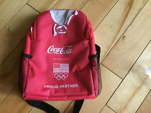 Coca Cola Sponsor USA Olympic Hockey Sweater Jersey Insulated Lunch Box New