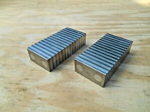 Pair Magnetic Transfer Blocks 1x2x4 Set Up Blocks Milling Parallels Grinding