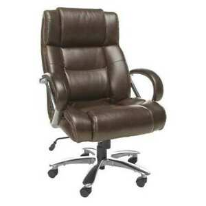 Ofm Inc 810 lx brn Executive Chair Series Avenger Bonded Leather Brown