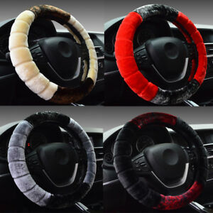 Universal Soft Warm Wool Plush Fuzzy Auto Car Steering Wheel Cover For Winter