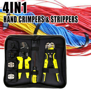 4 In 1 Wire Crimpers Engineering Ratcheting Terminal Crimping Pliers Us