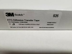 3m 926 Adhesive Transfer Tape 1 4 X 18 Yds box Of 12 Rolls