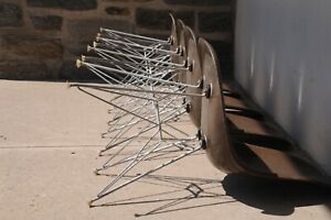 Eames Eiffel Tower Chairs In Seal Brown